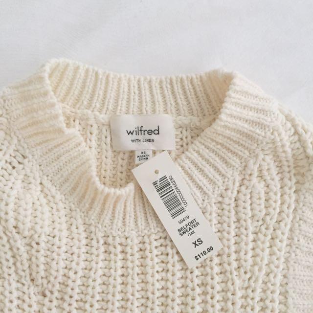 d440f93d3883b NWT Aritzia Wilfred Belfort Sweater