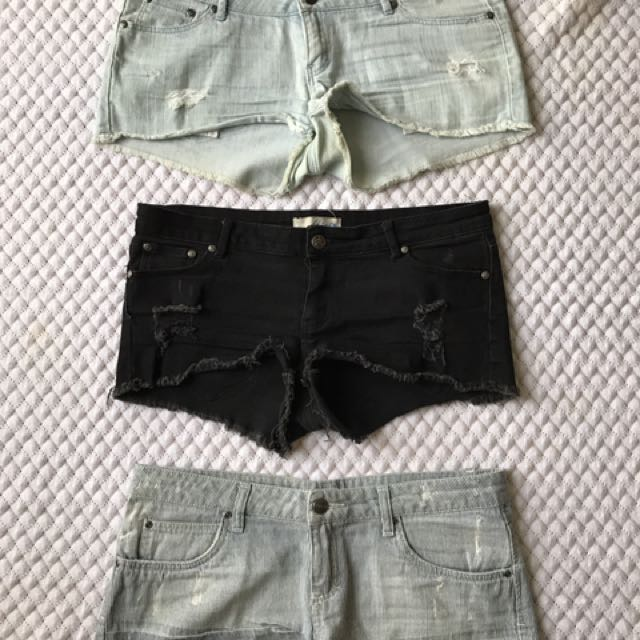 Pack Of 3 Short Shorts - Price Just Dropped!