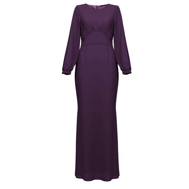9efbb5e56886 POPLOOK Lahela Chiffon Mermaid Dress, Women's Fashion, Muslimah ...