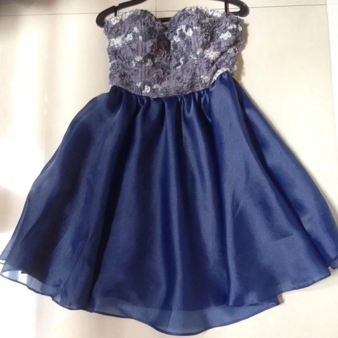 Prom Dress Strapless (Personal Design) Exclusive Elegant Blue