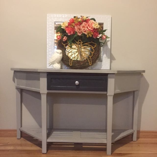 Refinished entryway Table