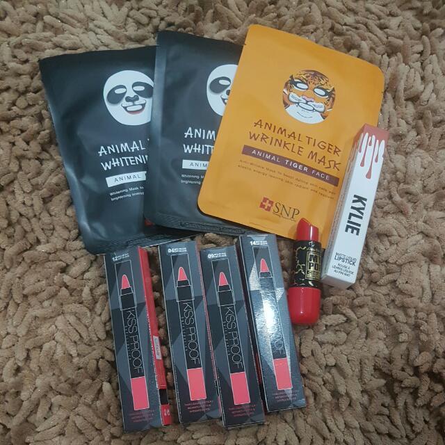 set masker, kylie, my pop lipstick, kissproof 4pcs