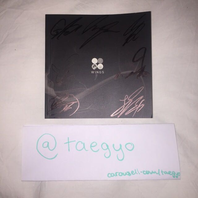 SIGNED BTS WINGS Album (KPOP)