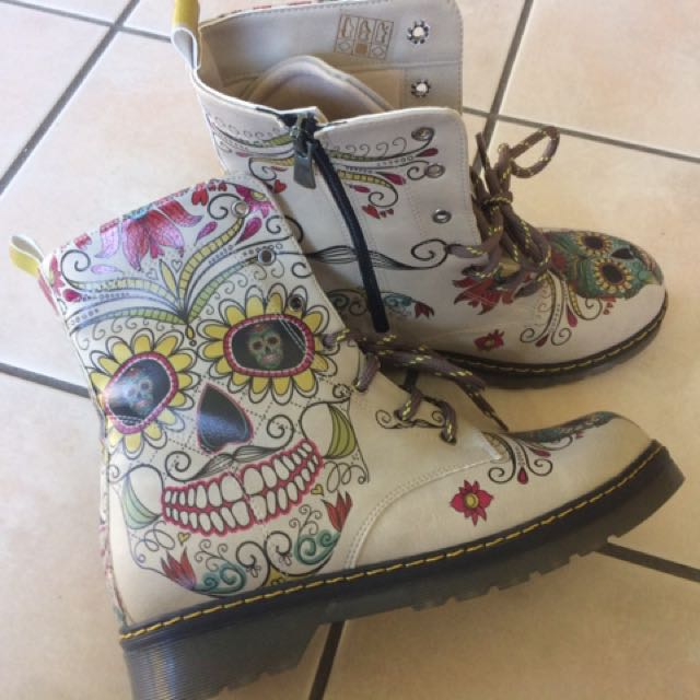 SKULL - DAY OF THE DEAD BOOTS