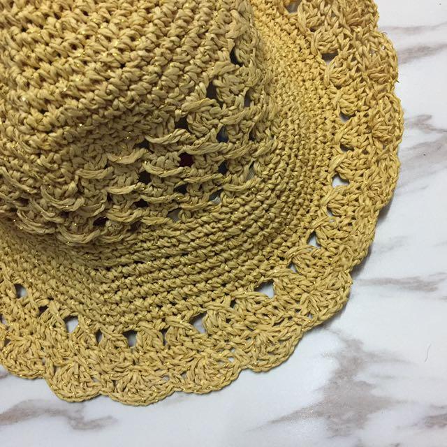SLY編織金蔥感草帽