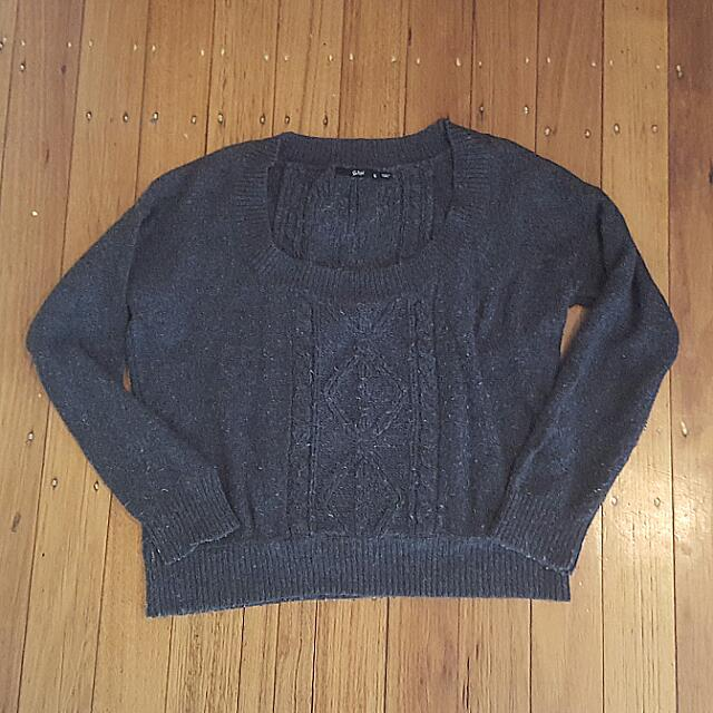 Sportsgirl Charcoal Grey Knit Size S