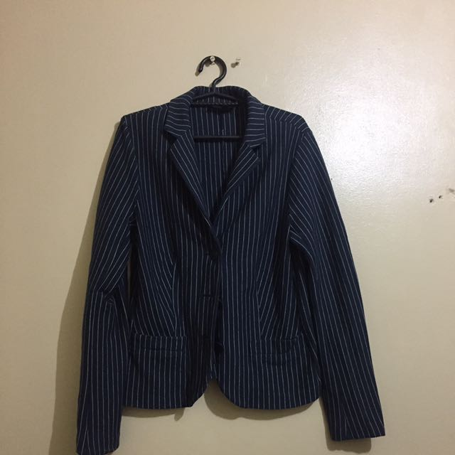Striped Blazer Discounted price From 150 to 100