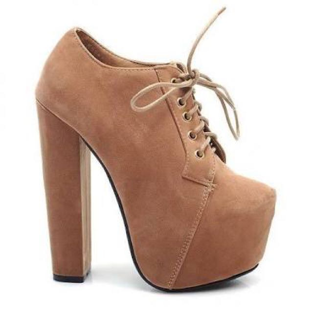 Tan High Heel Shoes