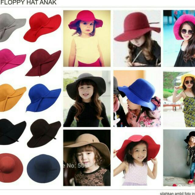 Floppy Hat / Topi Pantai Anak Badai, Babies & Kids, Girls' Apparel on Carousell