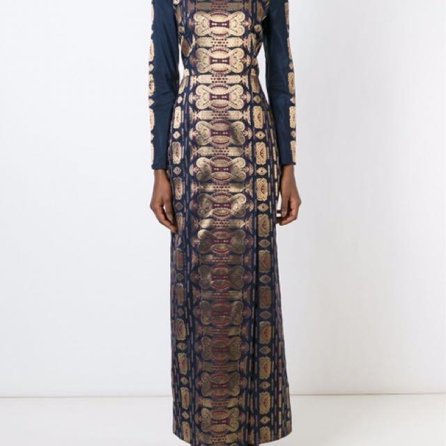 Tory Burch Long Jacquard Dress Size 2