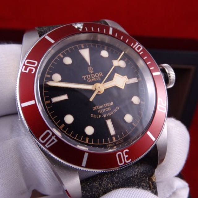tudor black bay red luxury watches on carousell. Black Bedroom Furniture Sets. Home Design Ideas