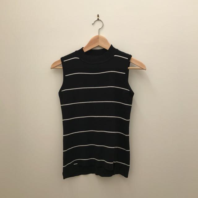 Stripey Knit Sleeveless Top