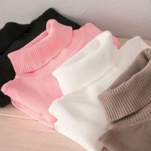 Turtleneck Warna Softpink/pinksalem