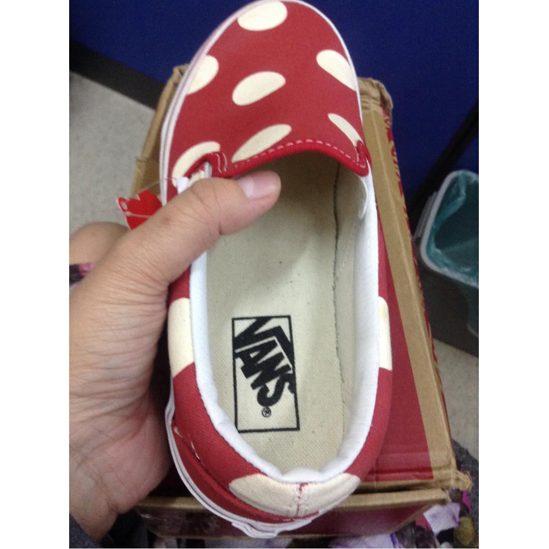 Vans Classic Slip-on Red Polka dot
