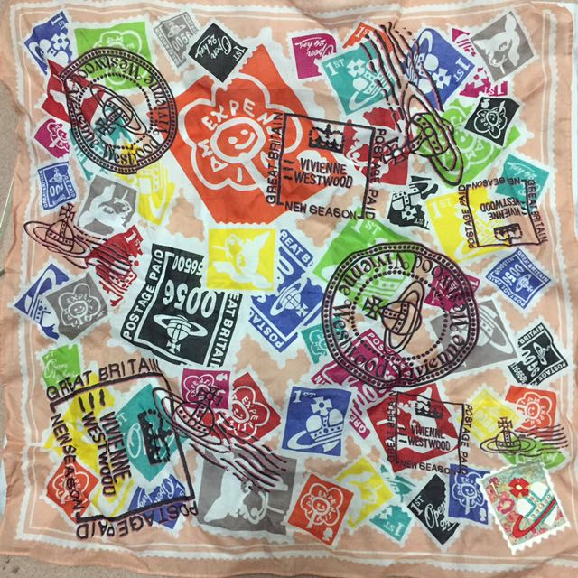 Vivienne Westwood 正方形絲巾-土星塗鴉