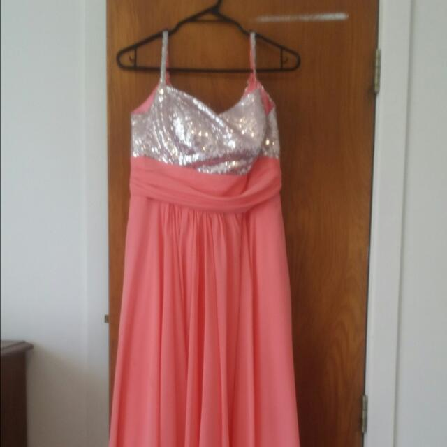Watermelon And Sequin Dress