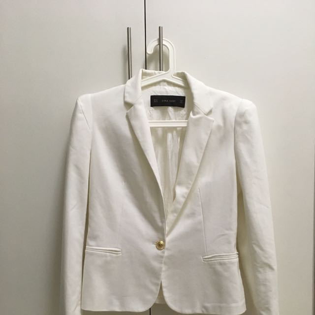 White Coat Zara Basic
