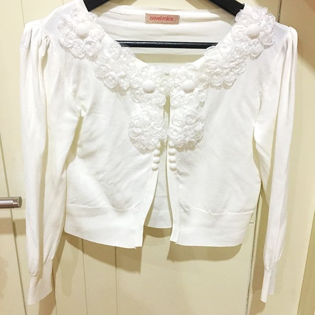 White Flower Cardigan