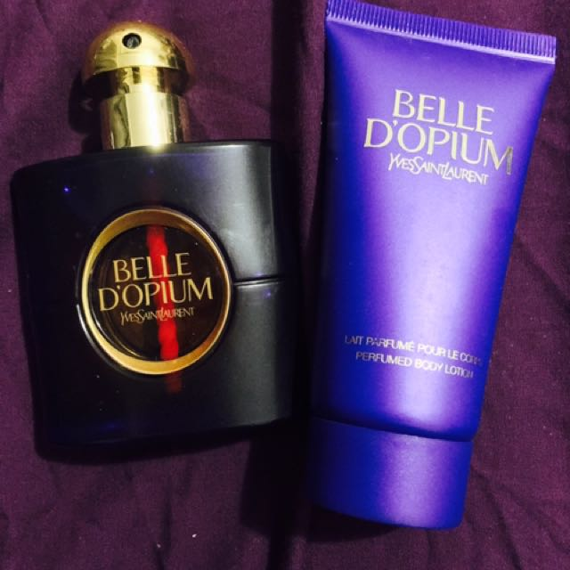 Yes Saint Laurent Belle D'Opium Perfume & Lotion