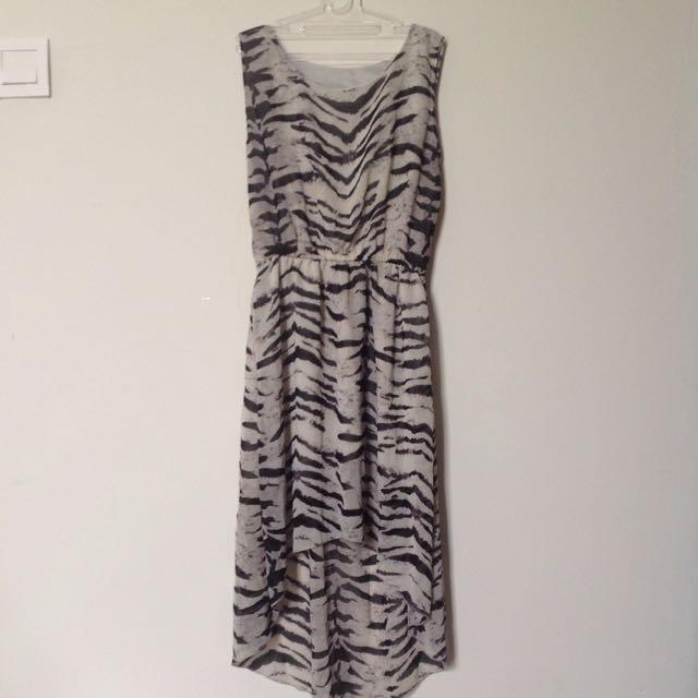 Zebra Dress Size S-M