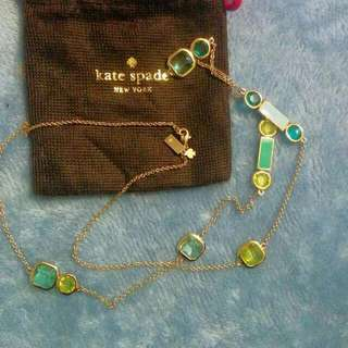 Authentic Kate Spade Necklace With Original Kate Spade Dust Bag
