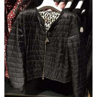 MONCLER 豹紋雙面拉鍊外套