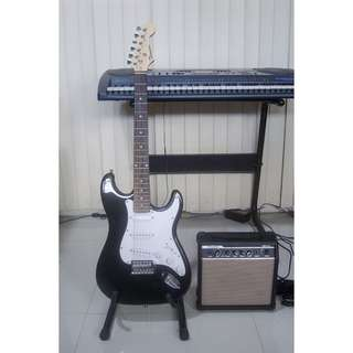 Brand New Electric Guitar w/ Amplifier and Freebies