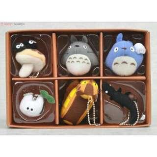 日本正版進口 宮崎駿經典動畫 龍貓 六宮格 絨毛玩偶吊飾 禮盒組