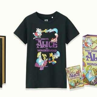 Uniqlo Disney Alice Tee 迪士尼 愛麗絲