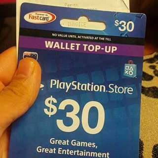NEW Playstation gift card $30