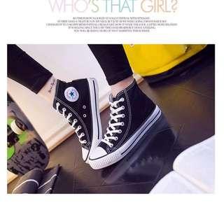 現貨🍑黑白帆布鞋