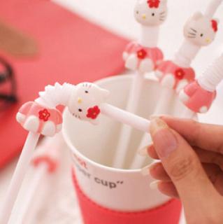 Sedotan plastik motif Hello Kitty lucu - HKN111