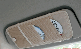 Tempat CD DVD organizer film musik Sun Visor interior mobil - HMB010