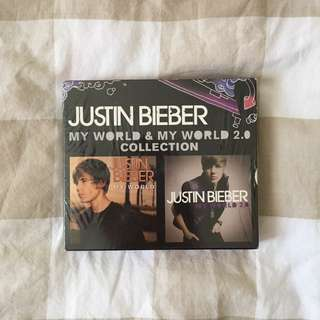 Justin Bieber My World & My World 2.0 Dual CD Collection