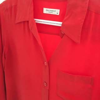 Equipment Silk Red Shirt