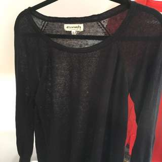 Aritzia Community Black Sheer Like Sweater