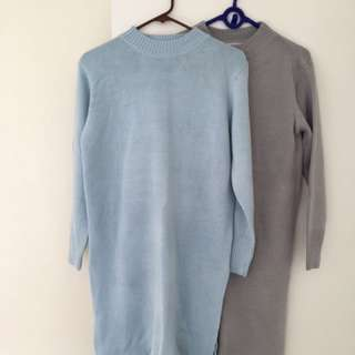 2x Long Knit Tops