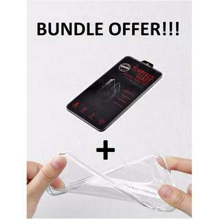 [$5] iPhone & Samsung Bundle: Tempered Glass Screen Protector + Soft TPU Cover