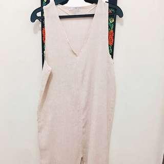 PullandBear Light Rose Long Dress