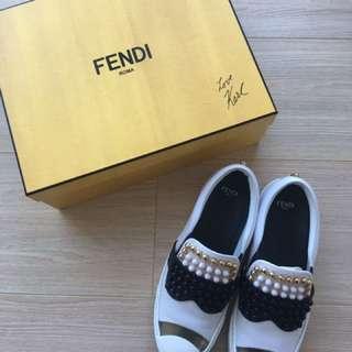 FENDI Karlito Slip-on Sneakers Size 37 Like New