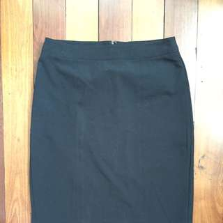 Black Pencil Skirt (Forever 21, Medium)