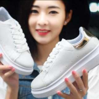 增高4公分/韓版白色女鞋(增高鞋/休閒鞋)/限時特價420元/舒適透氣,加厚耐磨(僅此一檔,錯過不再~)