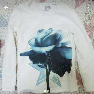 Long White sleeve Pullover