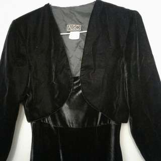 Velvet Dress With Jacket Size S