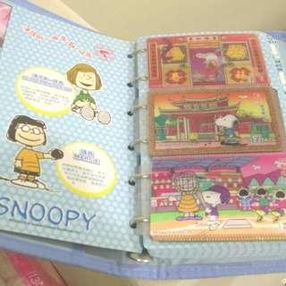 Snoopy 3D立體變化卡套整套 + 收集冊