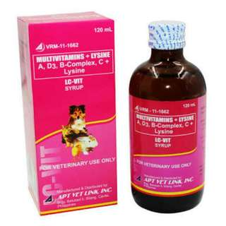 LC VIT Syrup (Multivitamins For Pets)  60ml/Php100.00 120ml/Php170.00