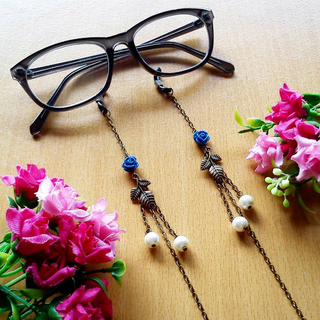 Rantai Kacamata Strap Glasses Rose Leaf