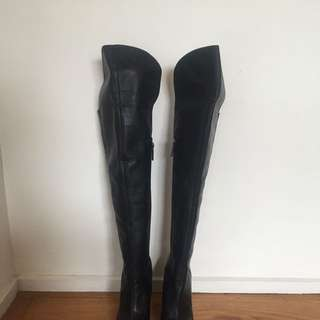 Mimco Lunar Over Knee Boots - Size 38