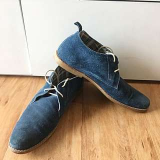 High Cut Shoes - Suede