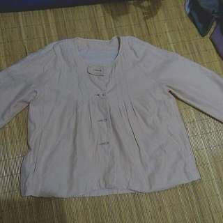 outer cream blouse